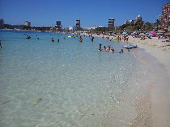 Bahia Principe Coral Playa: playa magaluf