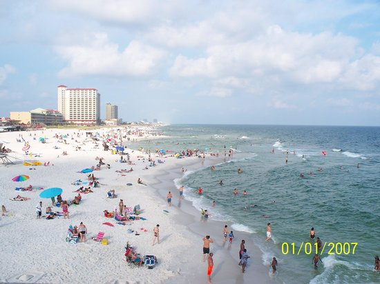 Pensacola Beach Gulf Pier: View From the Pier/The date autoset and we didn't know it. It was July 29, 2013.