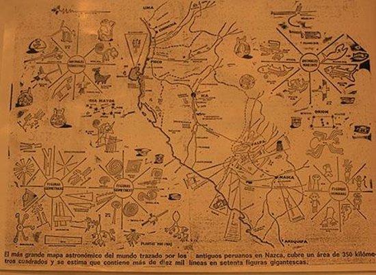 Paracas History Museum -  Juan Navarro Hierro: mapa das linhas de nazca