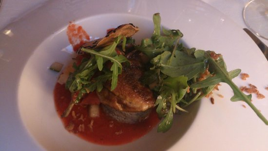 Aux Fontaines : Starter: gazpacho with quail and other little highlights for the taste buds