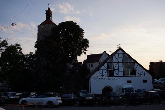 Burghotel Schöne Aussicht: In front of the entrance