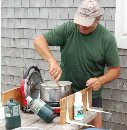 By The Sea Kayaking : Paul Cooking Clam Chowder