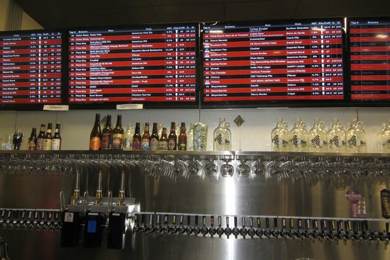 ALS of Hampden: portion of the taps behind the bar