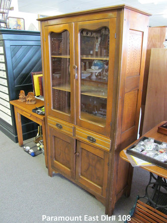 Paramount East Antique Mall: Antique china cabinet.