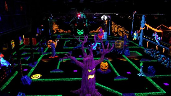 Monroeville, PA: 18 holes of indoor glow-in-the-dark monster themed mini golf!