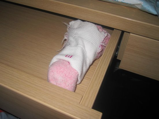The Fleet Street Hotel: One pair of socks only just fits because they are so shallow