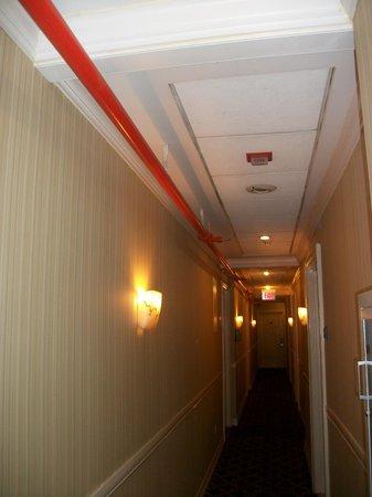Hotel Stanford : Pasillo de accesos a las habitaciones.