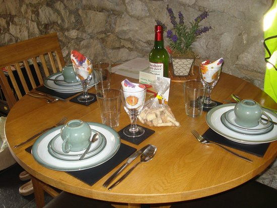 Wheeldon Trees Farm Holiday Cottages: Table set for us