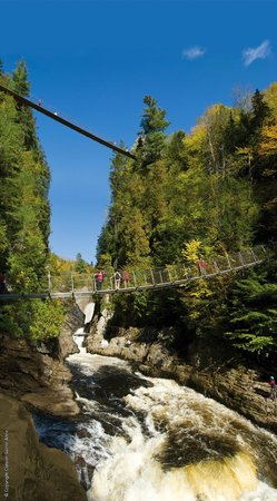 Beaupre, Kanada: Canyon Sainte-Anne, 3 ponts suspendus / 3 suspending bridges