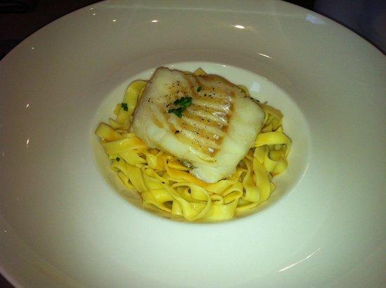 Restaurant La Lieutenance : Le pavé de cabillaud aux tagliatelles