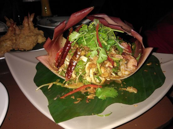 Saffron on the Sea: Prawns in Banana blossom