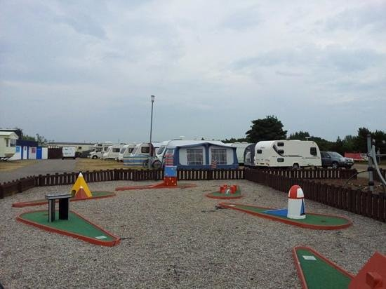 Parkdean - Nairn Lochloy Holiday Park : crazy golf looking onto tourers and behind campsite