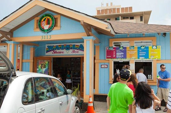 Waiola Shave Ice: Waiola Shaved Ice just off Kapahulu Ave.