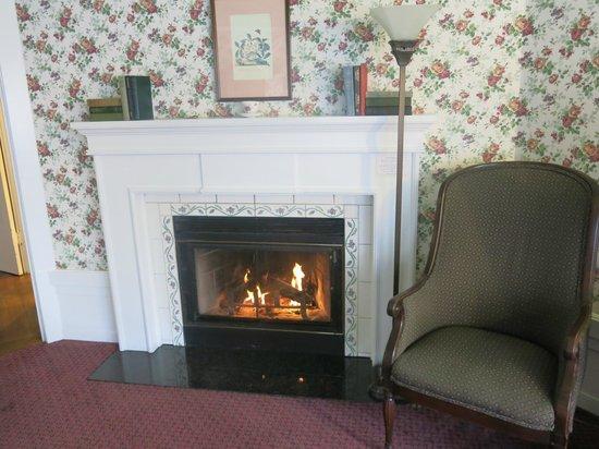 White Swan Inn: Kamin im Zimmer