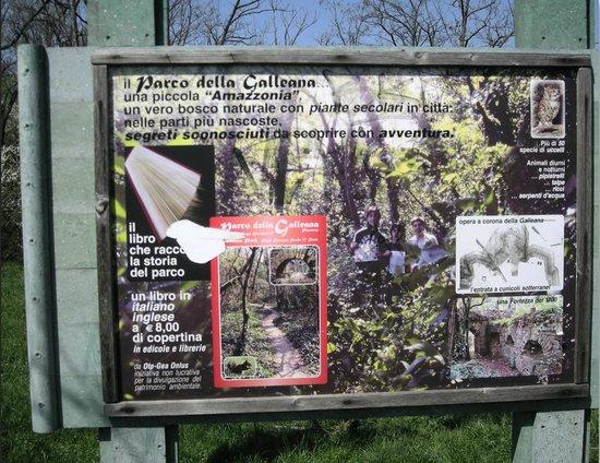 Parco Galleana: pianta del parco