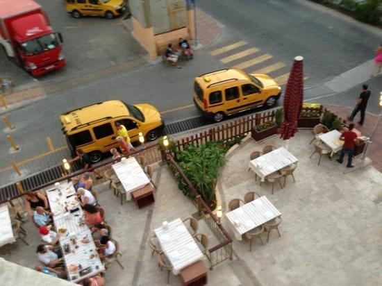 Tekin Apartments: view from left of balcony