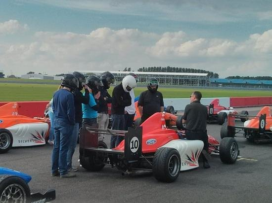 Silverstone Single Seater Experience: Briefing before getting into the cars.