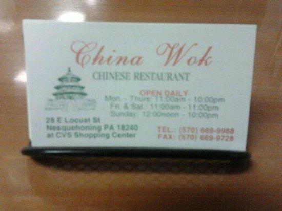 China Wok: Business Cards