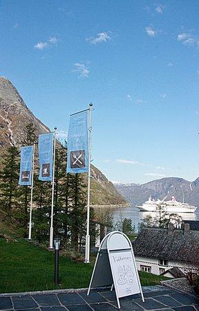 Eidfjord Fjell & Fjord Hotel: Flagg utsikt