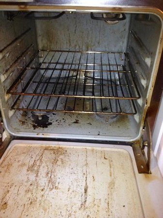 Pinewoods Resort : Filthy oven in Lodge Suite #5