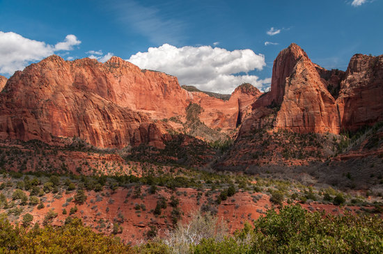 Kolob Canyon Road: View of Finger Canyons from a Pull-out