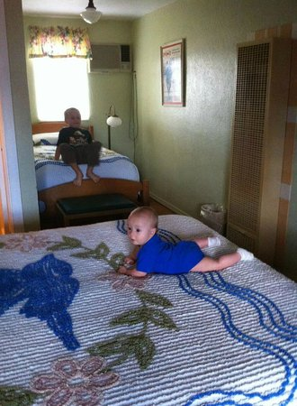 Blue Swallow Motel : the second bedroom in the two-bedroom suite