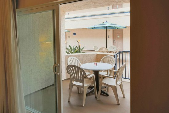 Patio of a One Bedroom Unit at the Southern California Beach Club