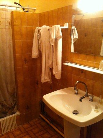 Grand Hotel Des Bains : Badezimmer des Zimmers im 2. Stock