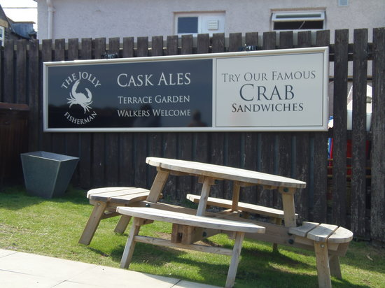 The Jolly Fisherman Pub: Famous Crab Sandwiches!
