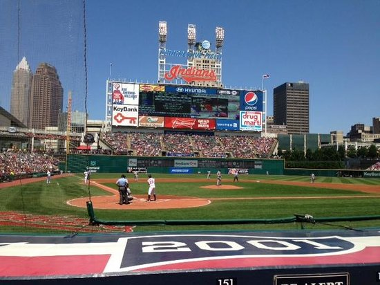 Progressive Field : Now this is a view!!!