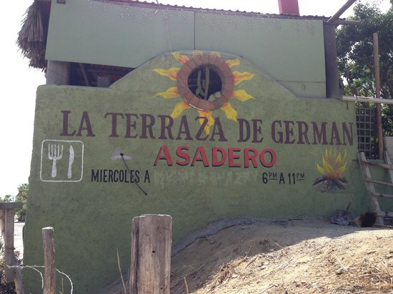 La Terraza de German: FROM THE HIGHWAY