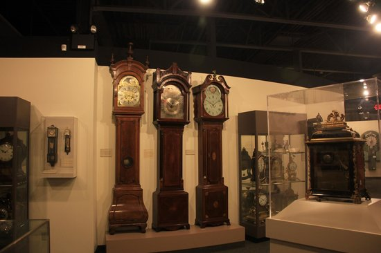 National Watch and Clock Museum: Just a sample of the clocks in this museum.