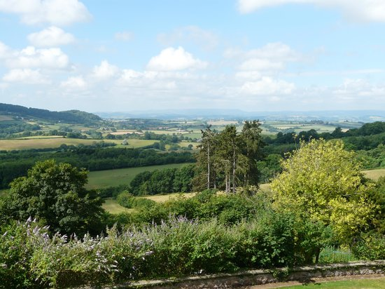 Caer Llan: The view from the terrace