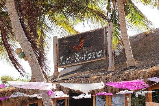 La Zebra Colibri Boutique Hotel: Sign on the Restaurant