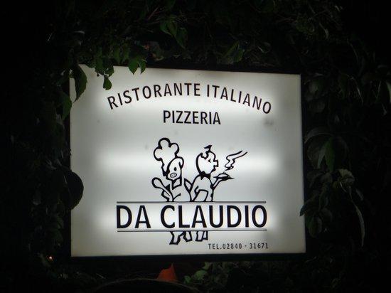Claudio's Italian Restaurant : The sign