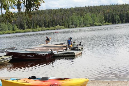 Postill Lake Lodge: One and only dock