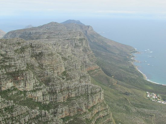The Twelve Apostles Hotel and Spa: If you look close you can see the hotel on the coastline.