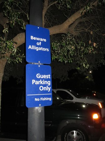 Hampton Inn Mobile-East Bay/Daphne: Sign in parking lot