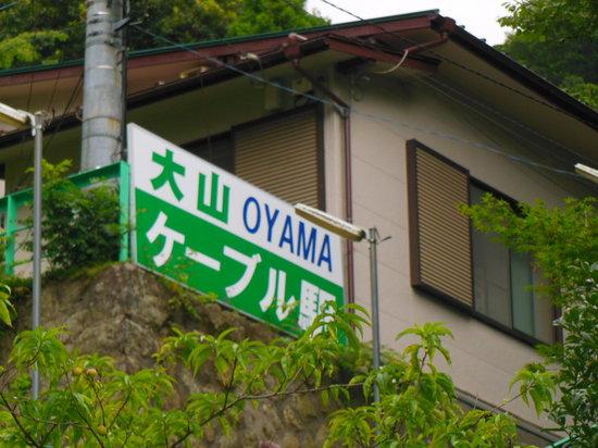 Oyama Cable: こま参道を登ると見えてきます。あともう少し!