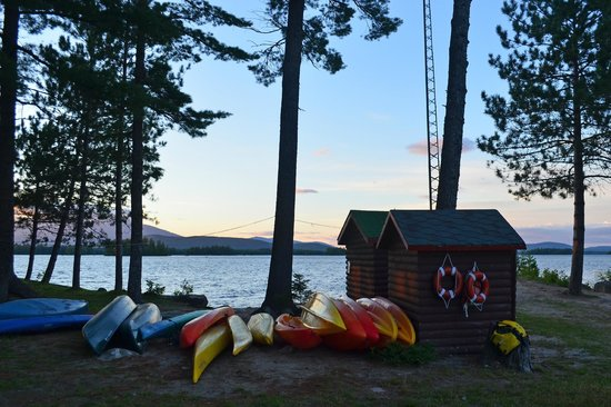 New England Outdoor Center - NEOC: Canoes, kayaks and equipment shed