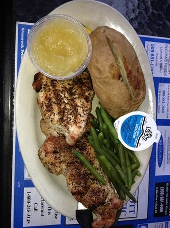 """T.J. Spirits: very peppery """"Montreal"""" pork chops-the best of 5 meals"""