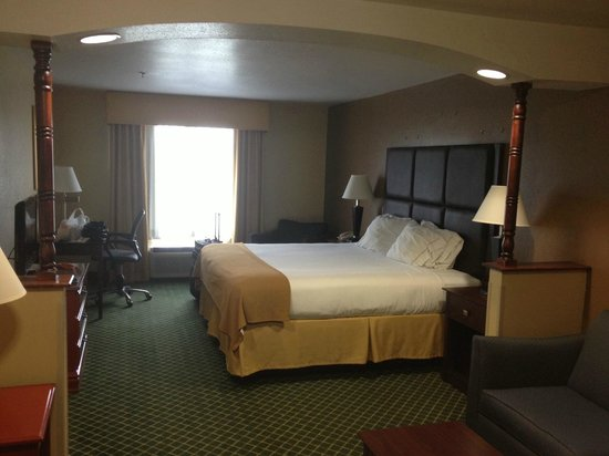 Holiday Inn Express Hinesville: King Bed with a soft leather headboard