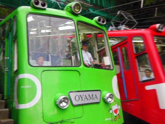 Oyama Cable: 一瞬なので、2台同時の撮影は難しかった~