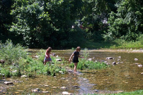 Stockstill Park: Cool fun in the creek on a hot day!