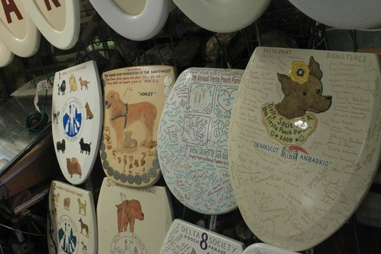 Toilet Seat Museum: Part of the collection