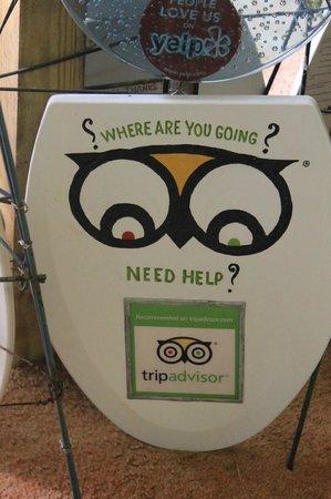 Toilet Seat Museum: Trip Advisor! :-)