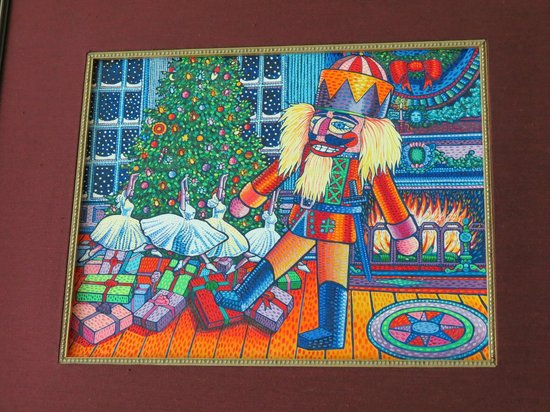Celestial Seasonings Tea Factory : artwork which inspired the design on the 'Nutcracker Sweet' Holiday tea