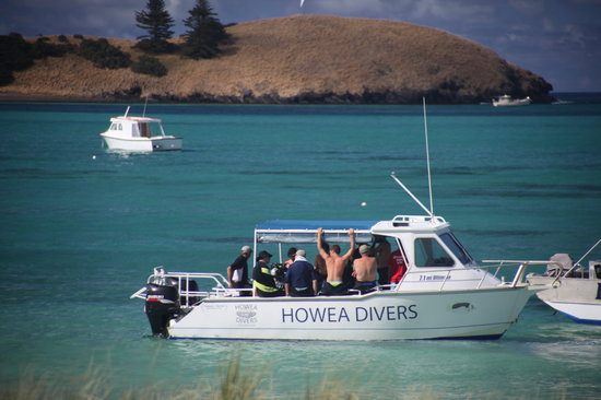 Howea Divers: on board the dive boat