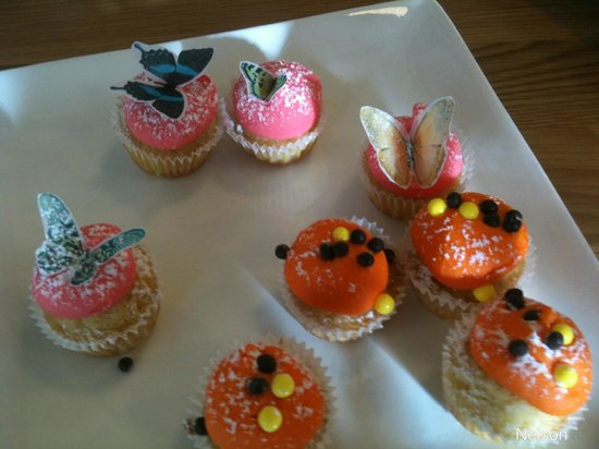 Paula's Plate: Beautiful Chidrens Cup cakes. And the Butterflies were edible!