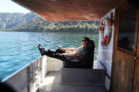Lakes Lodge Okataina : Fishing off the MV Waiora